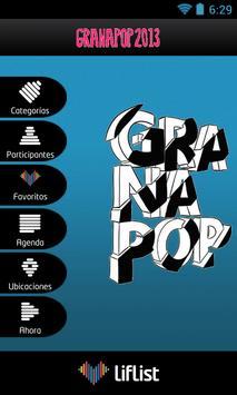 FESTIVAL GRANAPOP poster