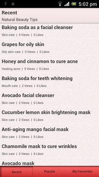 Natural Beauty Tips! screenshot 1