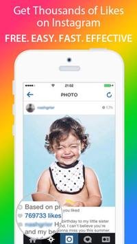 Get Likes with 5000 instagram. poster