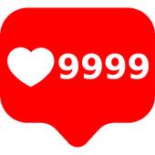 Likes 9999 icon