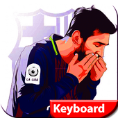 messi  keyboard themes for barcelone 2018 icon