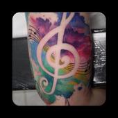 Music tattoos icon