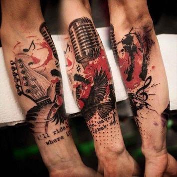 Music tattoos poster