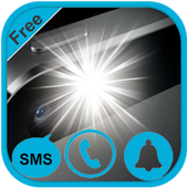 Flash On Call SMS Notification icon