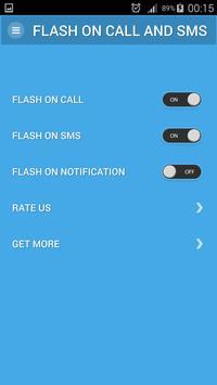 Flash On Call SMS Notification apk screenshot