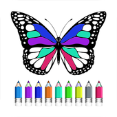 Coloring Book Of Butterfly icon