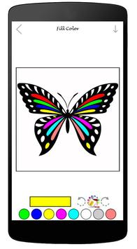 Coloring Book Of Butterfly poster