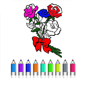 Coloring Book Of Flowers icon