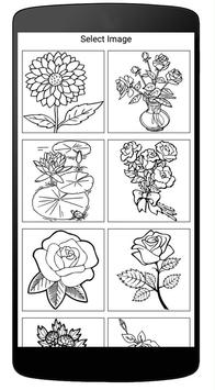 Coloring Book Of Flowers poster