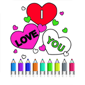 Coloring Book Of Love icon