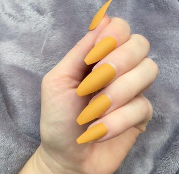 Mustard Yellow nails скриншот 1
