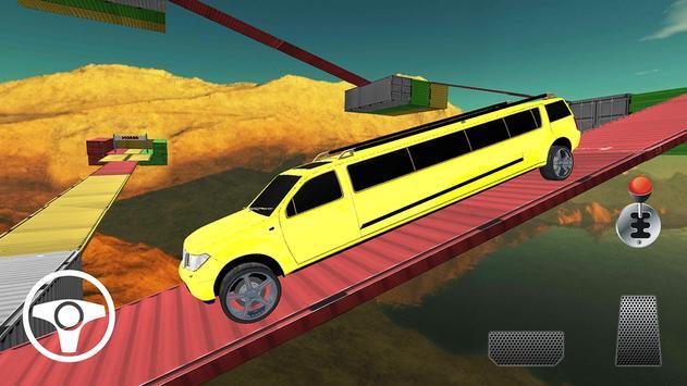 Limo Onmogelijke autorijden Simulator 3D-sporen-poster