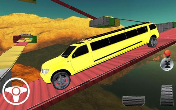Limo Car Racing On Impossible Tracks screenshot 2