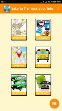 jakarta transportation info poster