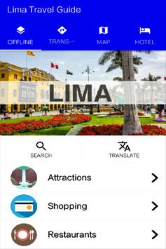 Lima Travel Guide poster