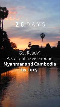 26DAYS - Travel, Backpacking poster