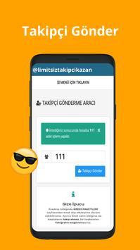 Limitsiz  Takipçi Kazan apk screenshot