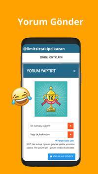 Limitsiz  Takipçi Kazan screenshot 3