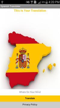 Spanish Translator poster