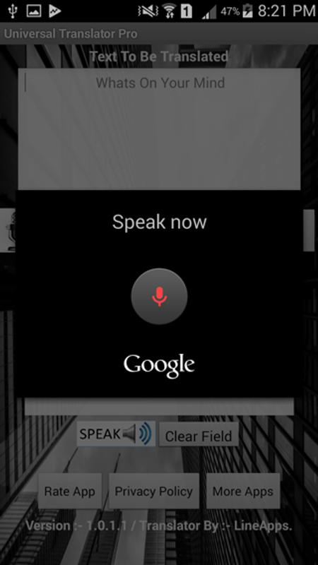 Universal translator for android apk download.