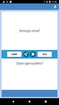 O'zbek  - Zulu Tarjimon screenshot 3