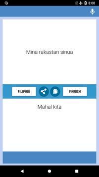 Filipino-Finnish Translator screenshot 1