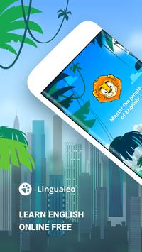 English with Lingualeo poster