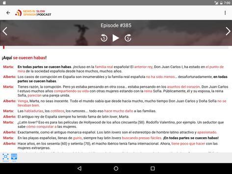 News in Slow Spanish apk screenshot