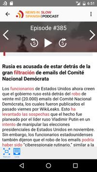 News in Slow Spanish screenshot 1