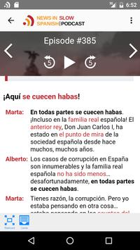 News in Slow Spanish apk screenshot