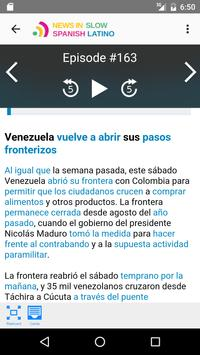 News in Slow Spanish Latino apk screenshot