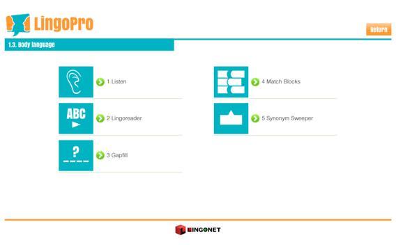 LingoPro English Free apk screenshot