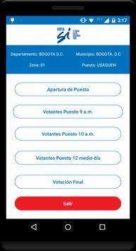Vota Sí apk screenshot