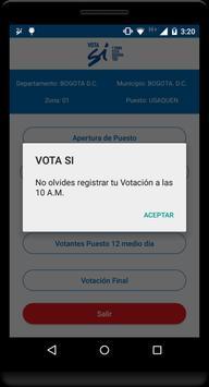 Vota Sí screenshot 3