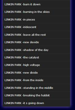 linkin park apk screenshot