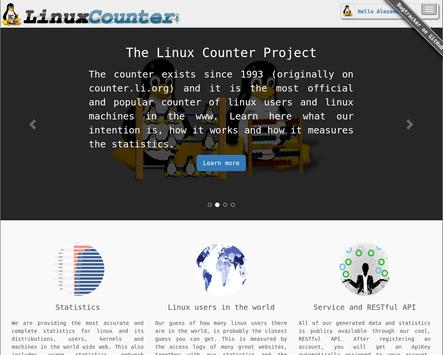 The Linux Counter Project poster