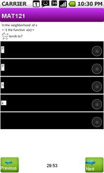 FUTMx Multiple Choice MAT121 apk screenshot