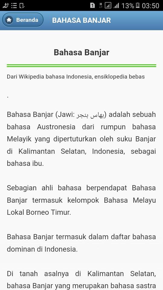 Kamus Bahasa Banjar For Android Apk Download