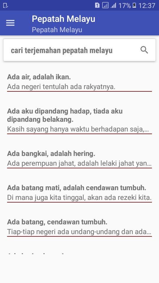 Koleksi Pepatah Melayu Dan Artinya For Android Apk Download