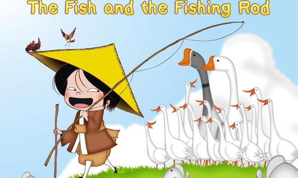 The fish and the fishing rod poster