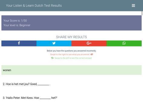 Dutch Level Test apk screenshot