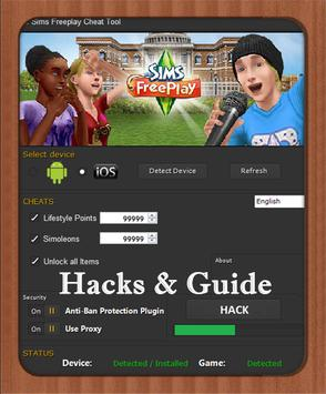 Key Freeplay Hack for The sims poster