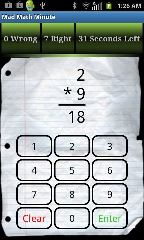 Minuto Matemáticas loco Descarga APK - Gratis Puzles Juego para ...