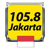 105.8 FM Jakarta Free Streaming Music Indonesia FM icon