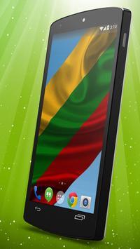 Lithuanian Flag Live Wallpaper poster