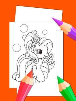 Little Pony Drawing Book For Adult screenshot 1