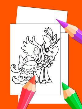Little Pony Drawing Book For Adult screenshot 3