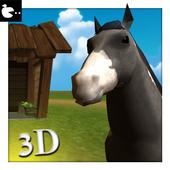 Horse Simulator 3D Animal lives 3D icon
