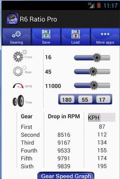 Yamaha R6 Gear Ratio Pro screenshot 1