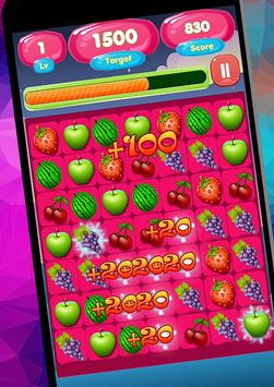 Sweet Fruit Candy Game Free poster